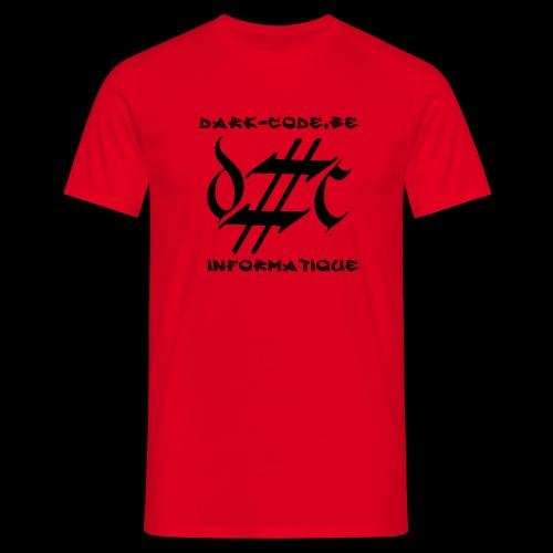 Dark-Code Black Gothic Logo - T-shirt Homme