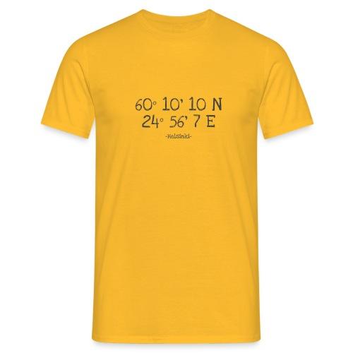 Helsinki Koordinaten - Männer T-Shirt