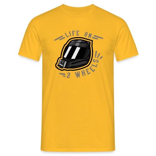 LifeOn2Wheels - Klassik Edition - Männer T-Shirt