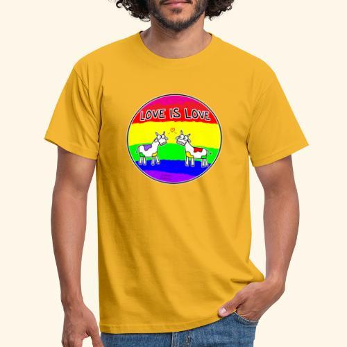 Love is Love! mit Kuhi und Muhi - Männer T-Shirt