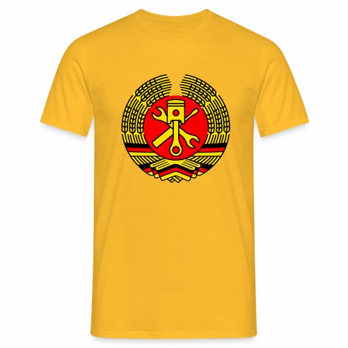 DDR Tuning Coat of Arms 3c (+ Your Text) - Men's T-Shirt