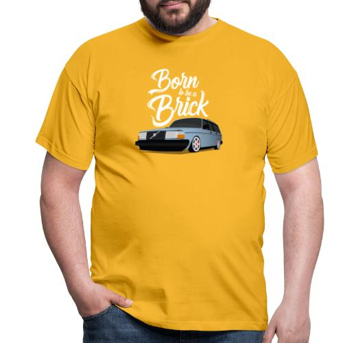 Born to be a Brick Blanc - T-shirt Homme