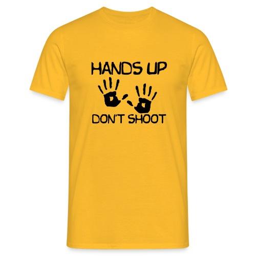 Hands Up Don't Shoot (Black Lives Matter) - Mannen T-shirt