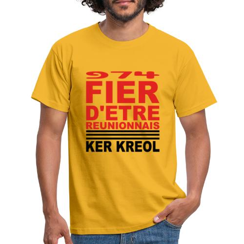 Fier d'etre reunionnais - T-shirt Homme