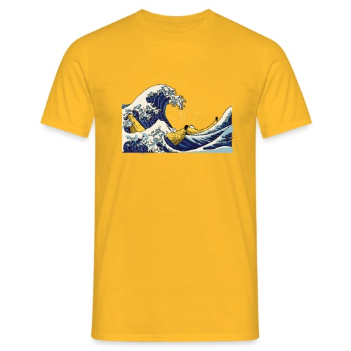 De golf van Banana - Mannen T-shirt