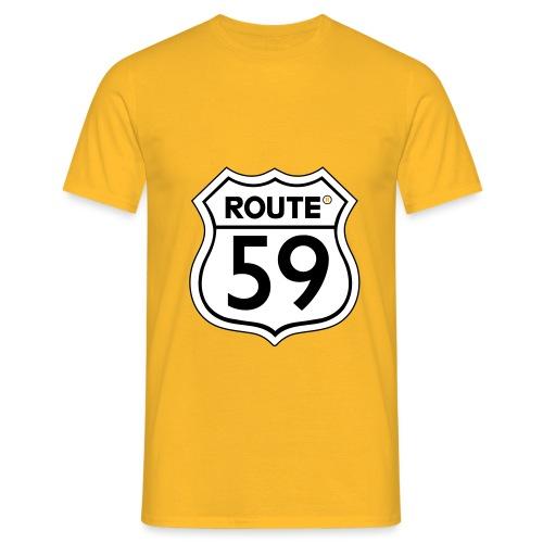 Route 59 zwart wit - Mannen T-shirt
