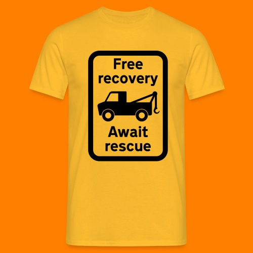 free recovery - Men's T-Shirt
