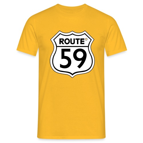 Route 59 zwart wit - Mannen T-shirt