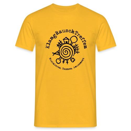 KlangRauschTreffen Logo mit Schrift rund - Männer T-Shirt
