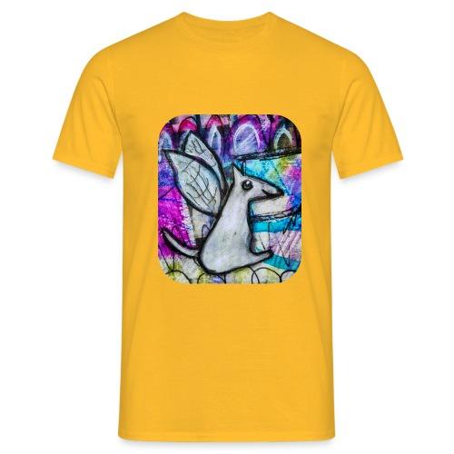 blissful doggie adjusted - Men's T-Shirt