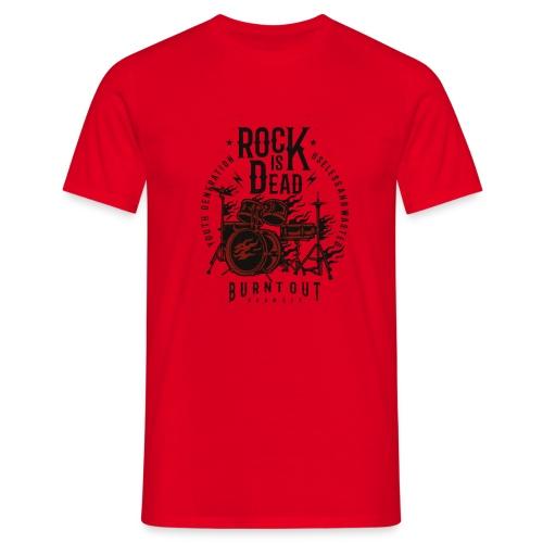 Rock Is Dead - Mannen T-shirt