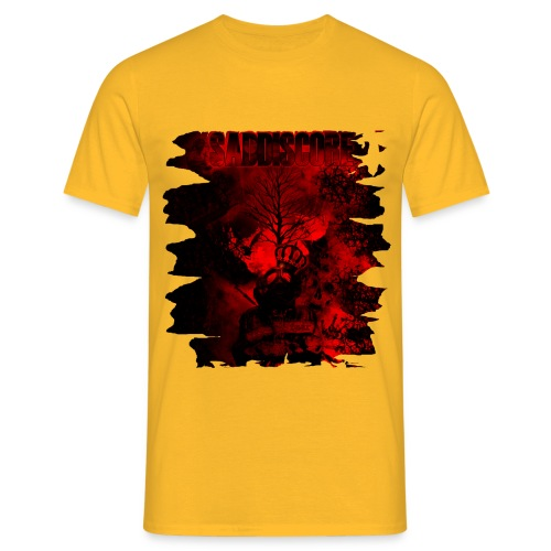 saddiscore cover front cut png - Männer T-Shirt