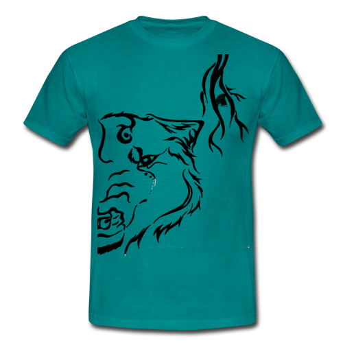 Black Wolf Thunder - Männer T-Shirt