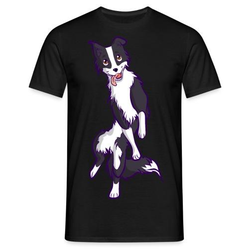 Border collie bianco nero - Maglietta da uomo