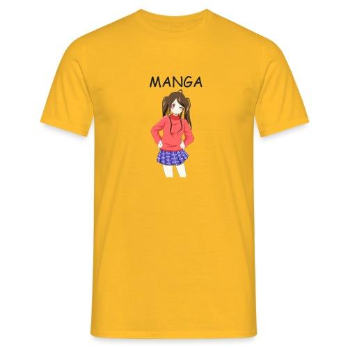 Anime girl 02 Text Manga - Männer T-Shirt