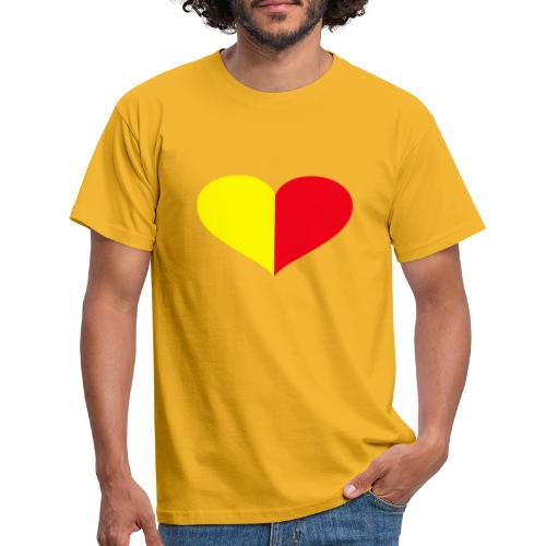 cuore giallorosso pieno - Maglietta da uomo