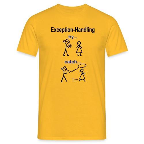 Try-Catch-Java-Code - Männer T-Shirt