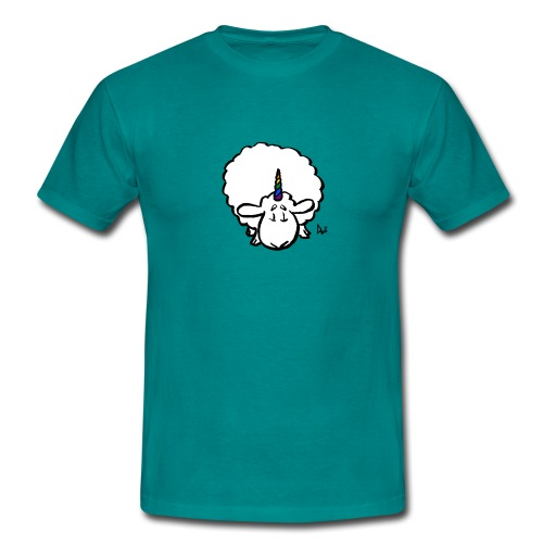 Ewenicorn - es ist ein Regenbogen-Einhornschaf! - Männer T-Shirt
