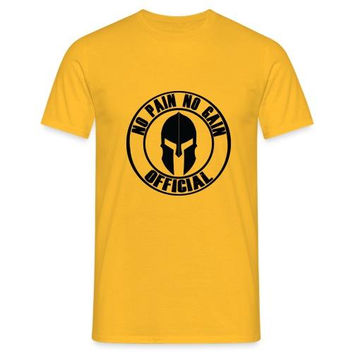 Logo circolare con elmo - Maglietta da uomo