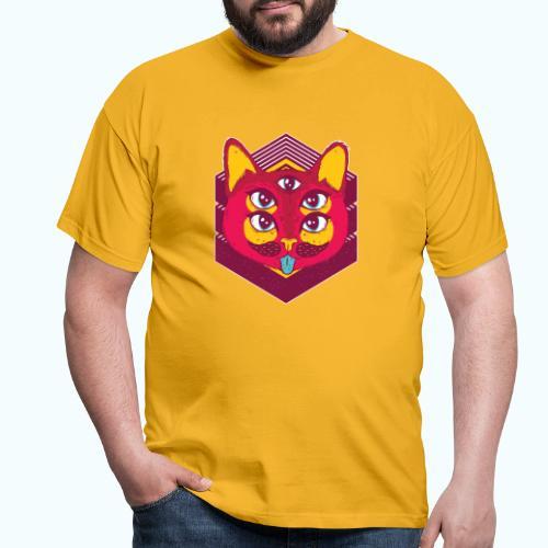 Psychedelic cat - Men's T-Shirt