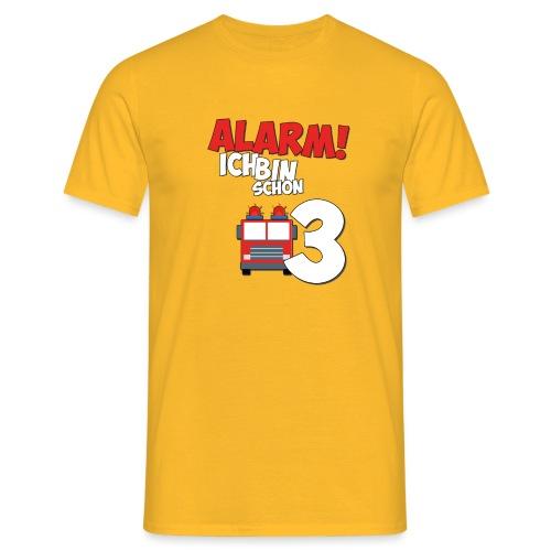 Feuerwehrauto 3. Geburtstag Jungen 3 Jahre - Männer T-Shirt