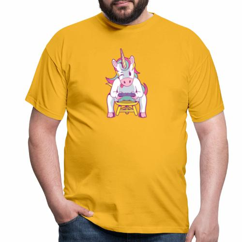 gamer unicorn - Männer T-Shirt