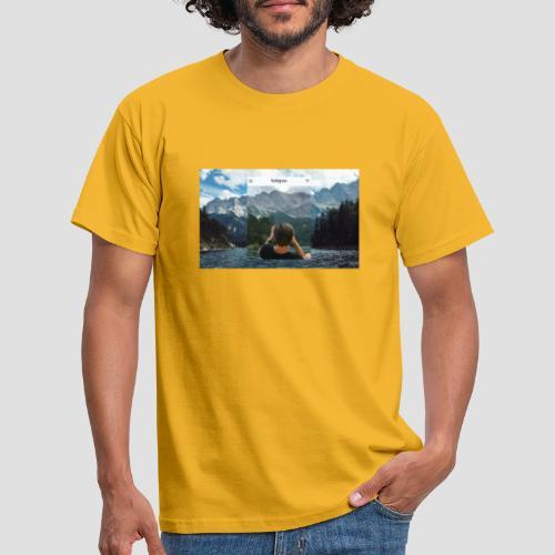 Reality vs. Instagram - Männer T-Shirt