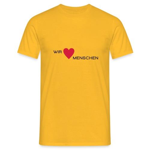 Wir lieben Menschen - Männer T-Shirt