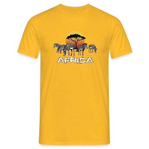 Zebras Afrika Wild Pferde Equus Serengeti Safari - Men's T-Shirt