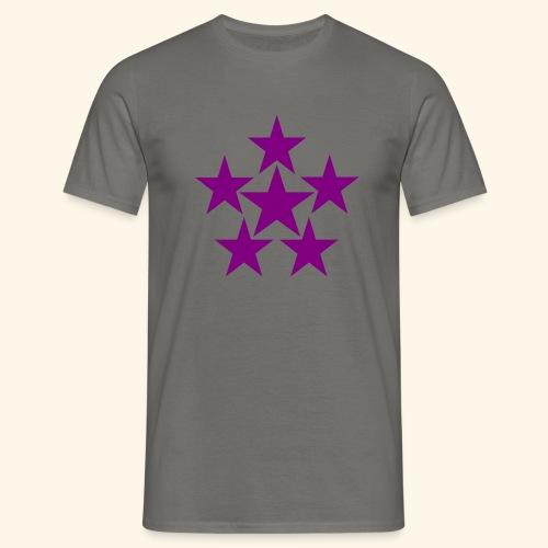 5 STAR lilla - Männer T-Shirt