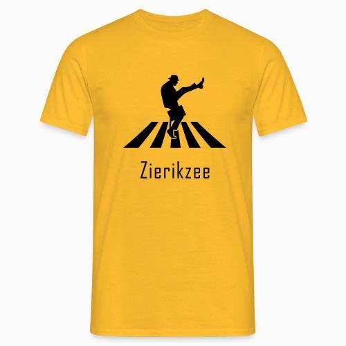Silly walk zebrapad verkeersbord Zierikzee Zeeland - Mannen T-shirt