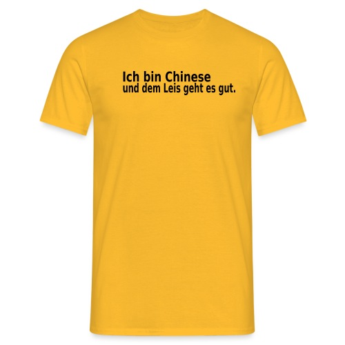 chinese China Reis - Männer T-Shirt