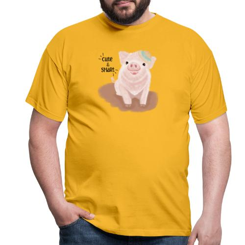 Cute & Smart Pig - Men's T-Shirt