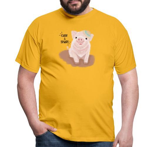 Cute & Smart Pig - Men's T-Shirt