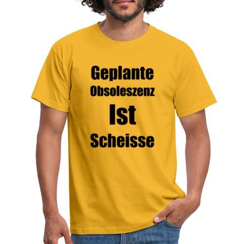 Obsoleszenz Schwarz Weiss - Männer T-Shirt