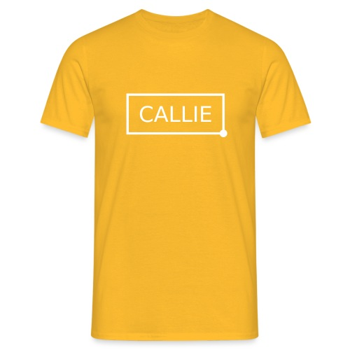 Callie. white - Mannen T-shirt