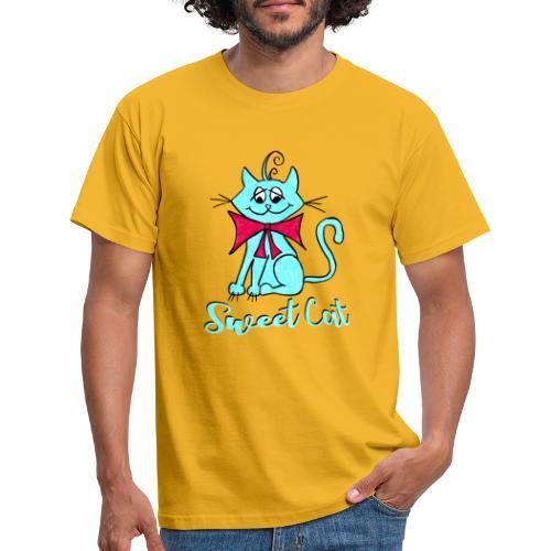 Niedliche kleine blaue Katze, Sweet! - Männer T-Shirt