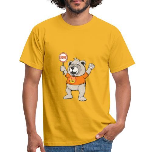 FUPO der Bär. Druckfarbe bunt - Männer T-Shirt