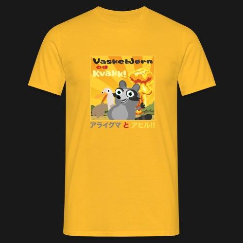 Vaskebjørn og Kvakk - T-skjorte for menn