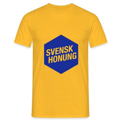 Svensk honung Hexagon Blå/Gul - T-shirt herr