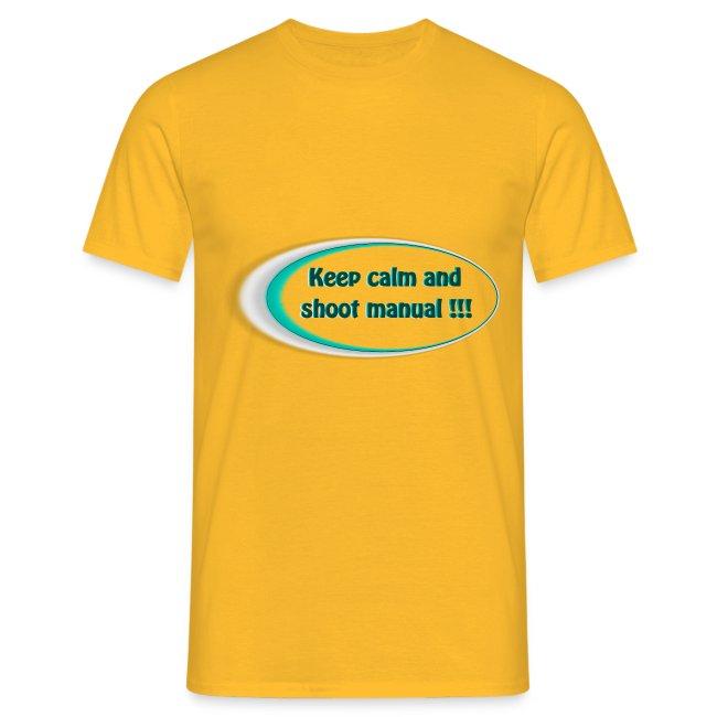 Keep calm and shoot manual slogan