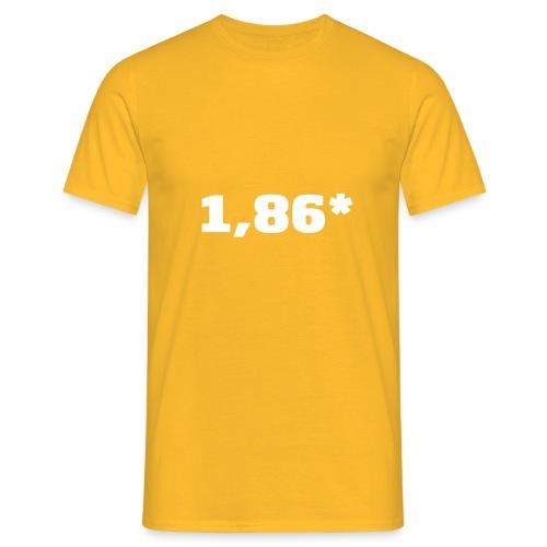 1 86 front - T-skjorte for menn