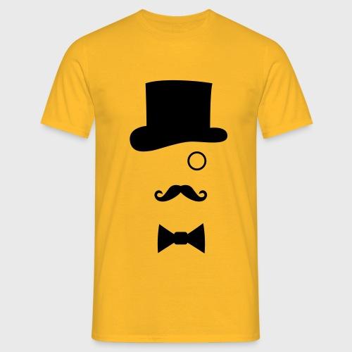 Chapeau Monocle Moustaches Nœud papillon - T-shirt Homme
