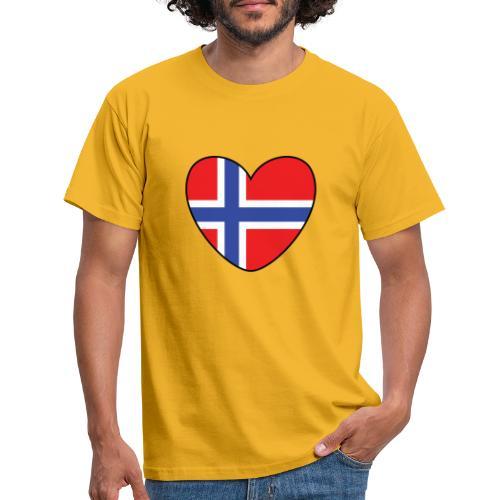 Norges-hjerte - T-skjorte for menn