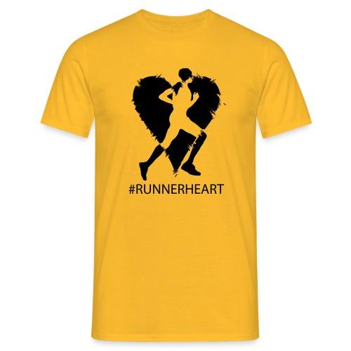 #Runnerheart man - Männer T-Shirt