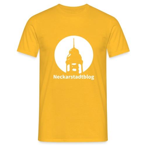 Logo mit Schriftzug invertiert - Männer T-Shirt