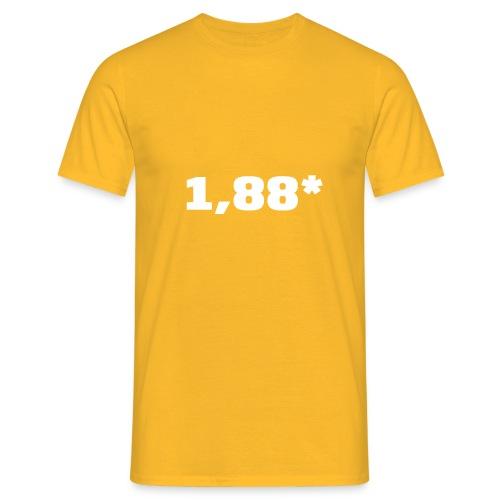 1 88 front - T-skjorte for menn