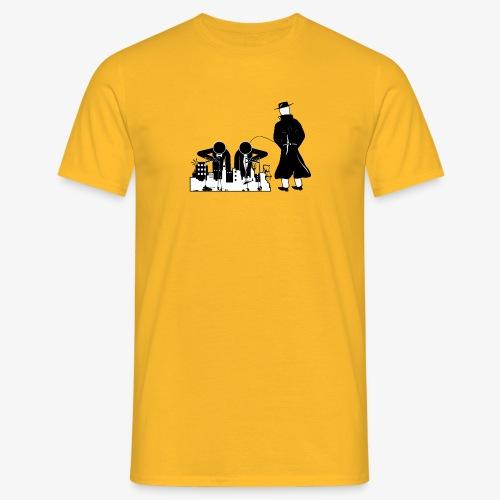 Pissing Man against war - Männer T-Shirt