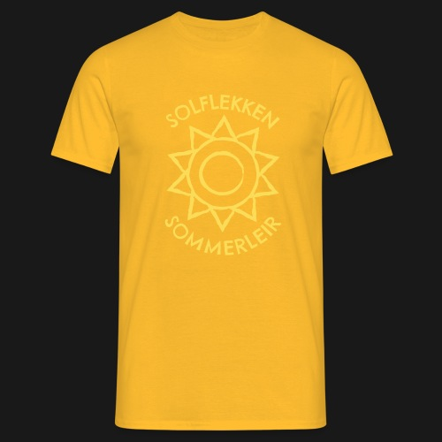 Solflekken Sommerleir - T-skjorte for menn