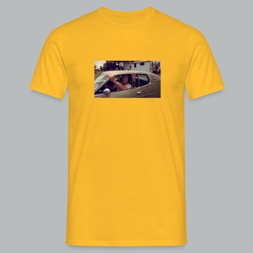 Fahey with Cat - Men's T-Shirt